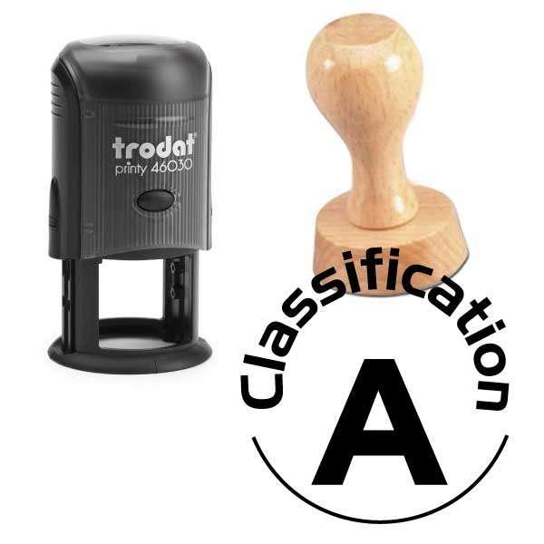 Circular custom stamp