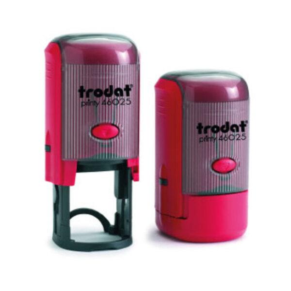 Tampon personnalisé Trodat Printy 46025 (monture ronde de 25mm de diamètre) - 6 lignes