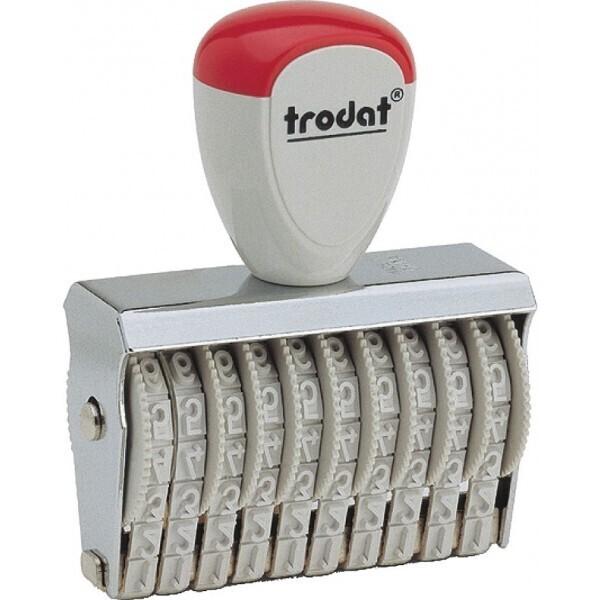 Tampon numéroteur métallique Trodat 15310 à encrage séparé