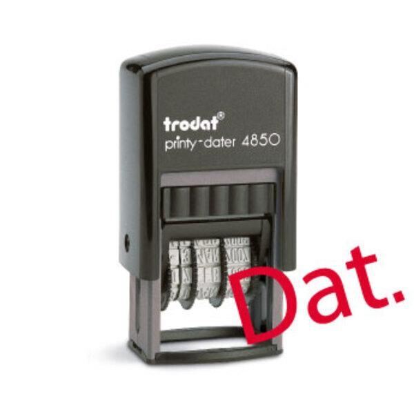 Tampon dateur personnalisé Trodat Printy 4850 (25 x 5 mm) - 1 ligne (date en dessous)