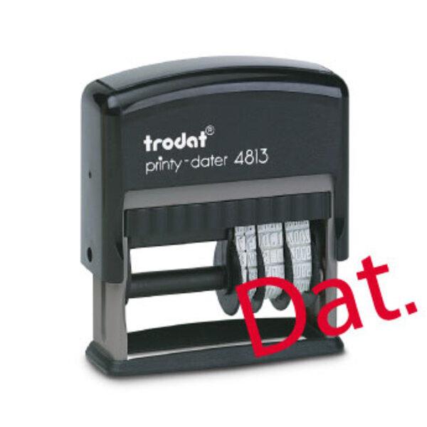 Tampon dateur personnalisé Trodat Printy 4813 (26 x 9 mm) - 1 ligne (date à droite)