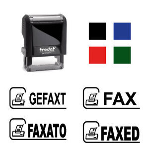 "X-print Trodat stamp ""FAXED"""
