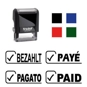 "X-print Trodat stamp ""PAID"""