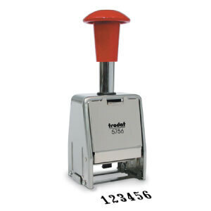 Metallic numberer stamp Trodat Professional 5756M