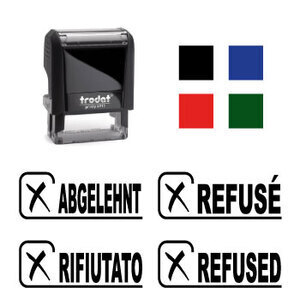 "X-print Trodat stamp ""REFUSED"""