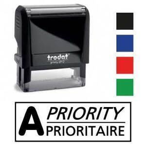"X-print stamp ""A Priority"""